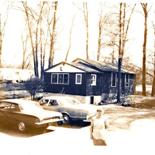 Cabin 7 in the 60s. Notice the trailer on the hill that is n longer there.