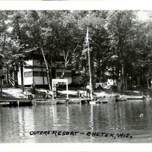 Here's another great shot of cabin 2 located where the picnic tables are now.